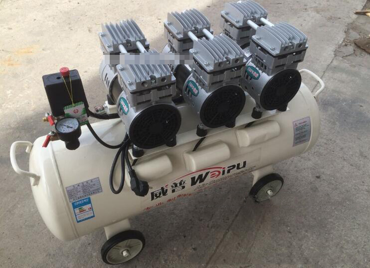 The supply of 750W -3/65L portable mute oil pump oil free air compressor
