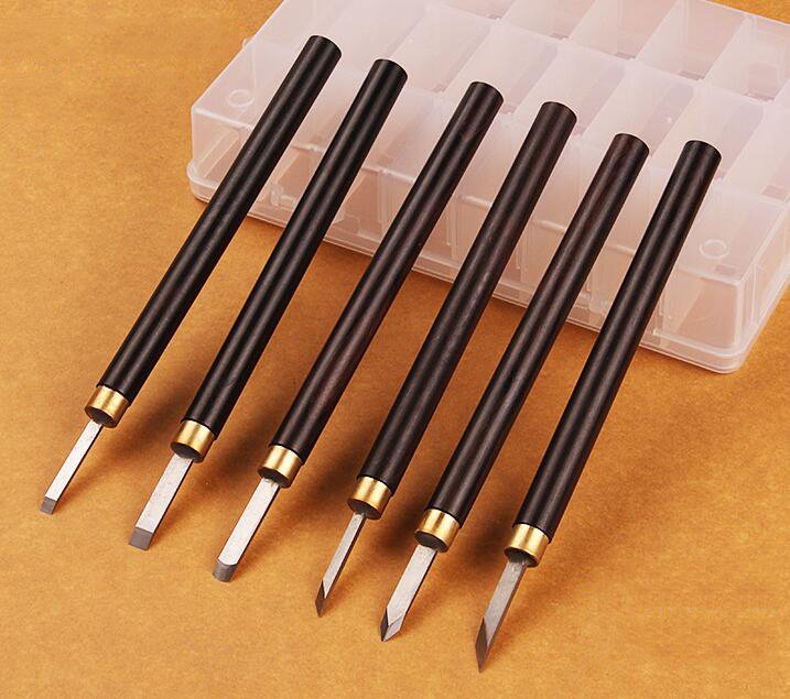 Woodworking chisel miniature knife white steel chisel woodworking chisel head Hand Set