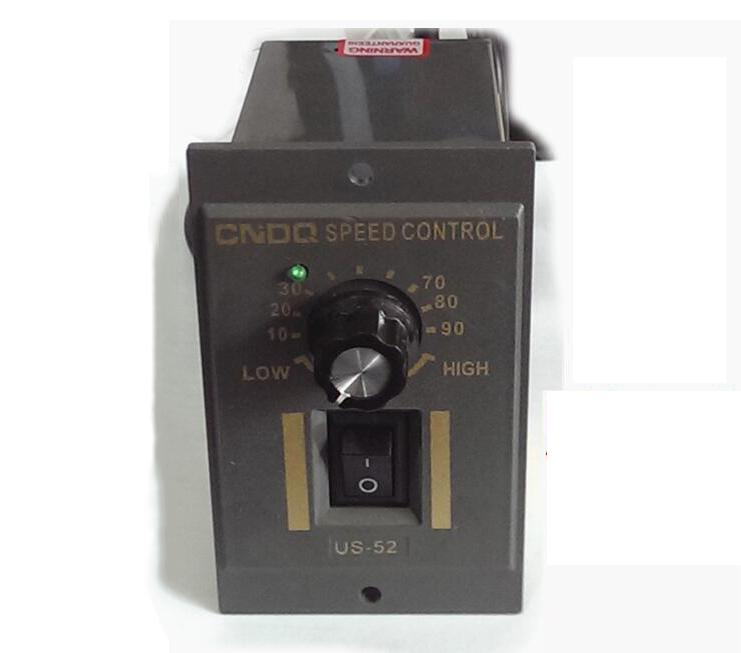 Free shipping 25W 40W 60W 90W 120W 180W 200W 250W motor speed reducer US-52