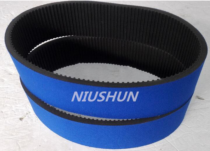 Imported industrial transmission belt gear belt direct PU polyurethane flat belt wear synchronous tr