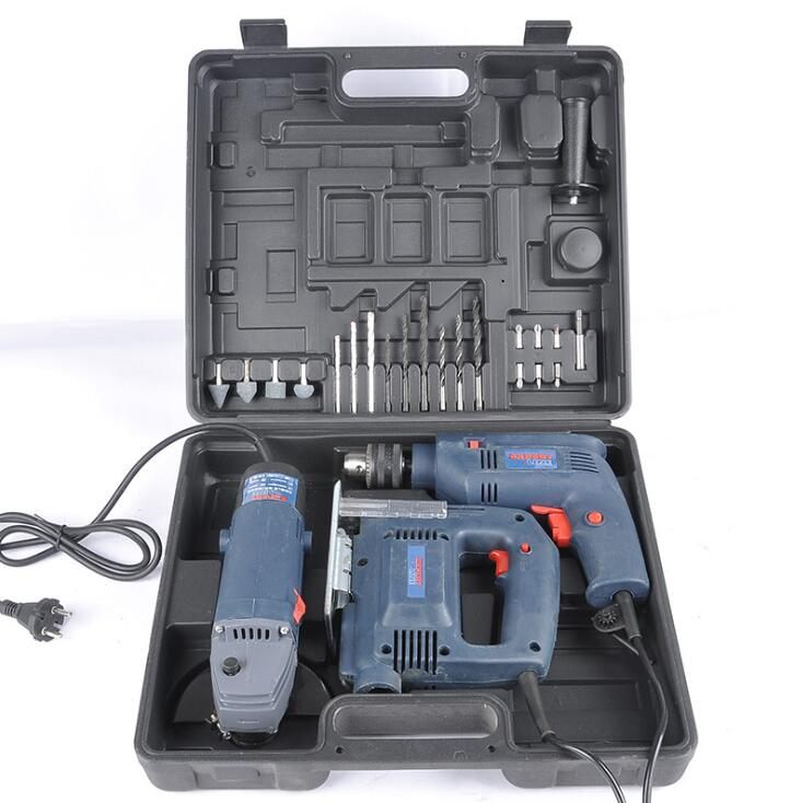 Three sets of metal toolbox toolbox 040-1 Power Tool Kit