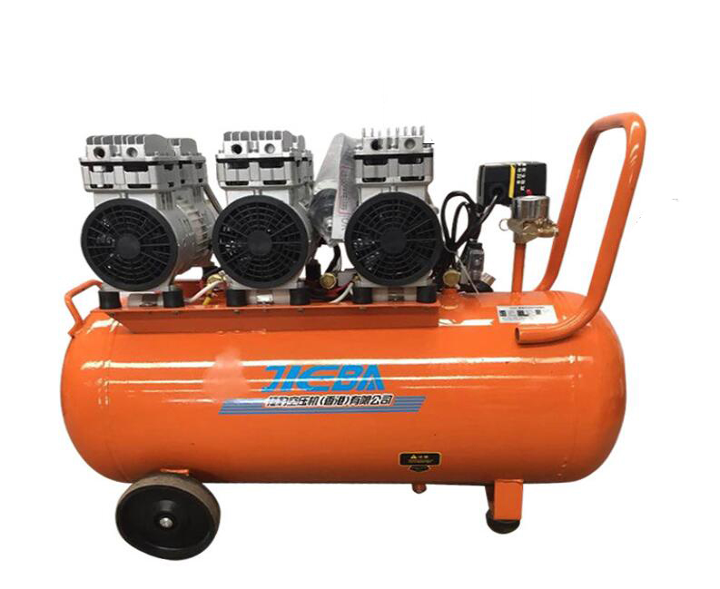 Hongkong Jaguar mute oil free compressor LJ-135/7 600W*3 spray pump woodworking dental compressor