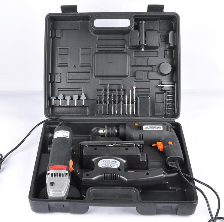 3 sets of large metal toolbox toolbox 041-1 Power Tool Kit