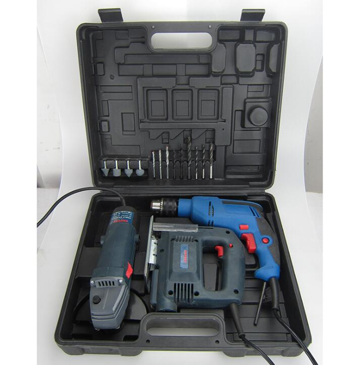 Three sets of metal toolbox toolbox 040-2 Power Tool Kit