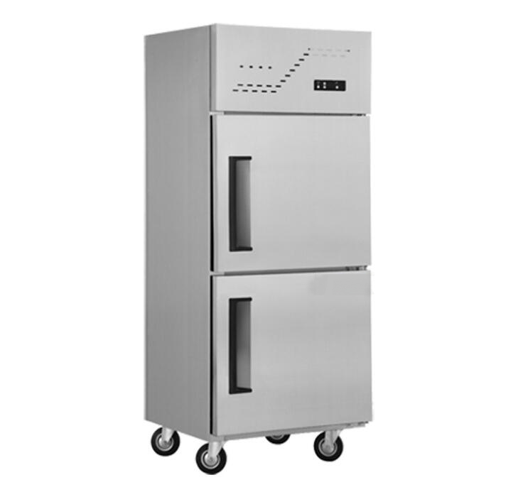 Conventional two-door two fresh frozen freezer refrigerator freezer refrigeration frozen freezer cab