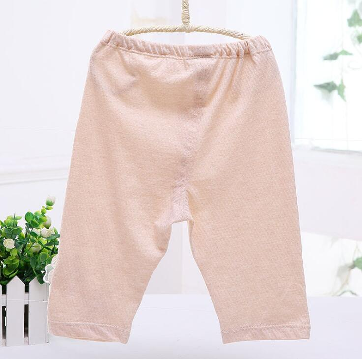 Quần   Natural organic cotton girls summer skin-friendly soft rubber band belt pants casual pants f
