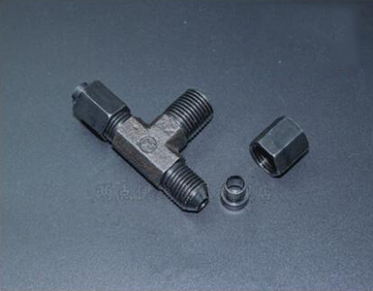 GB/T5635 flaring type of taper thread end hose transitional Marine hydraulic steel tubing nipple 8-1