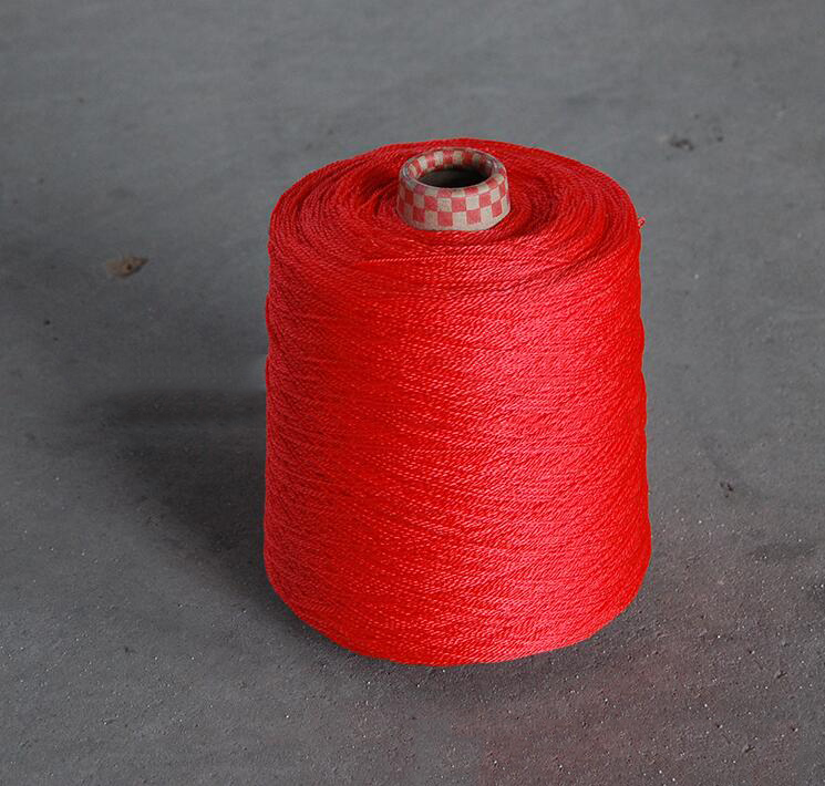 Hot wire production of high quality sewing thread of high strength polypropylene fiber polypropylene