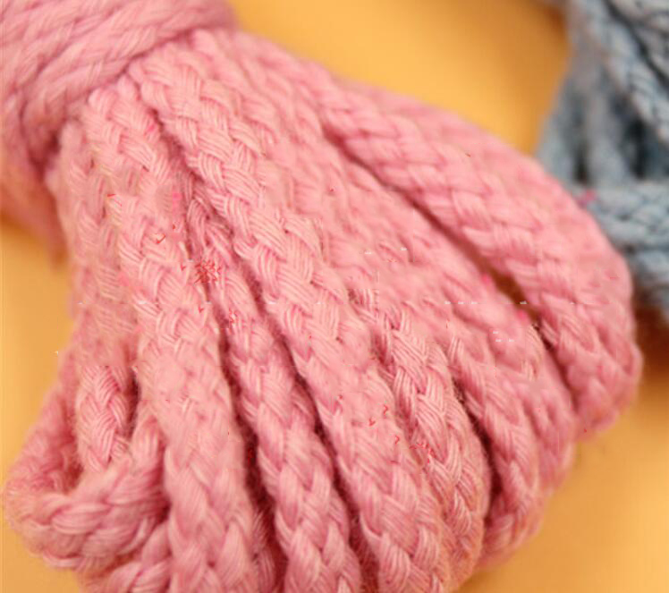 Ribbon Factory wholesale 6mm hollow cotton rope stereotyped, colored cotton, polyester webbing garme