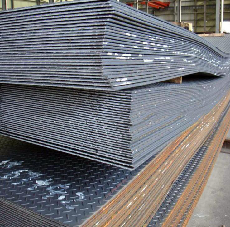Supply Shougang hot rolled steel - tread plate - galvanized checkered cutting