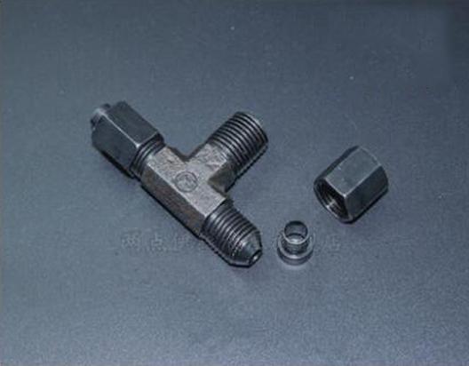 GB/T5635 flaring type of taper thread end hose transitional Marine hydraulic steel tubing nipple 6-1