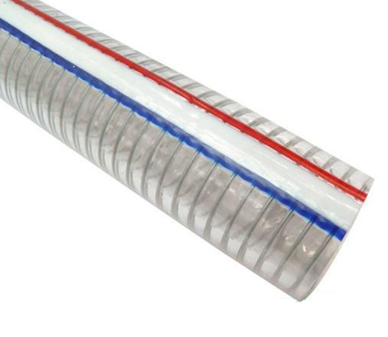Thép gân  Odorless plastic wire tube PVC wire threaded pipe food-grade plastic wire PVC steel wire