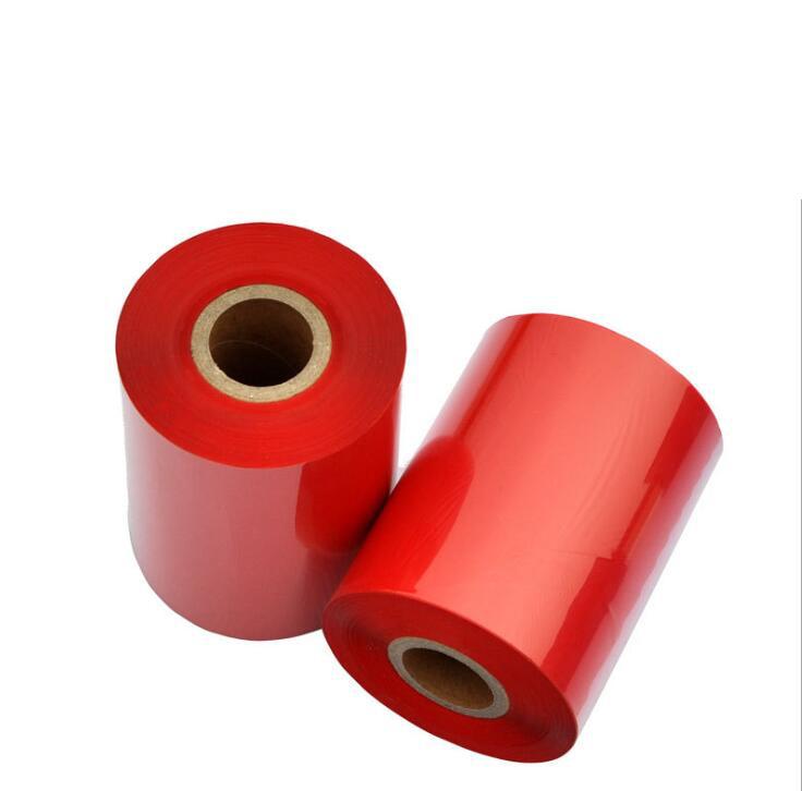 Manufacturers custom color barcode ribbon 90 * 300 color blue wax based barcode ribbon
