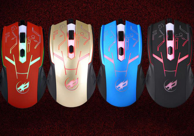 Thị trường phụ kiện vi tính  4D Business Games Creative USB Optical Mouse laser wired mouse compute