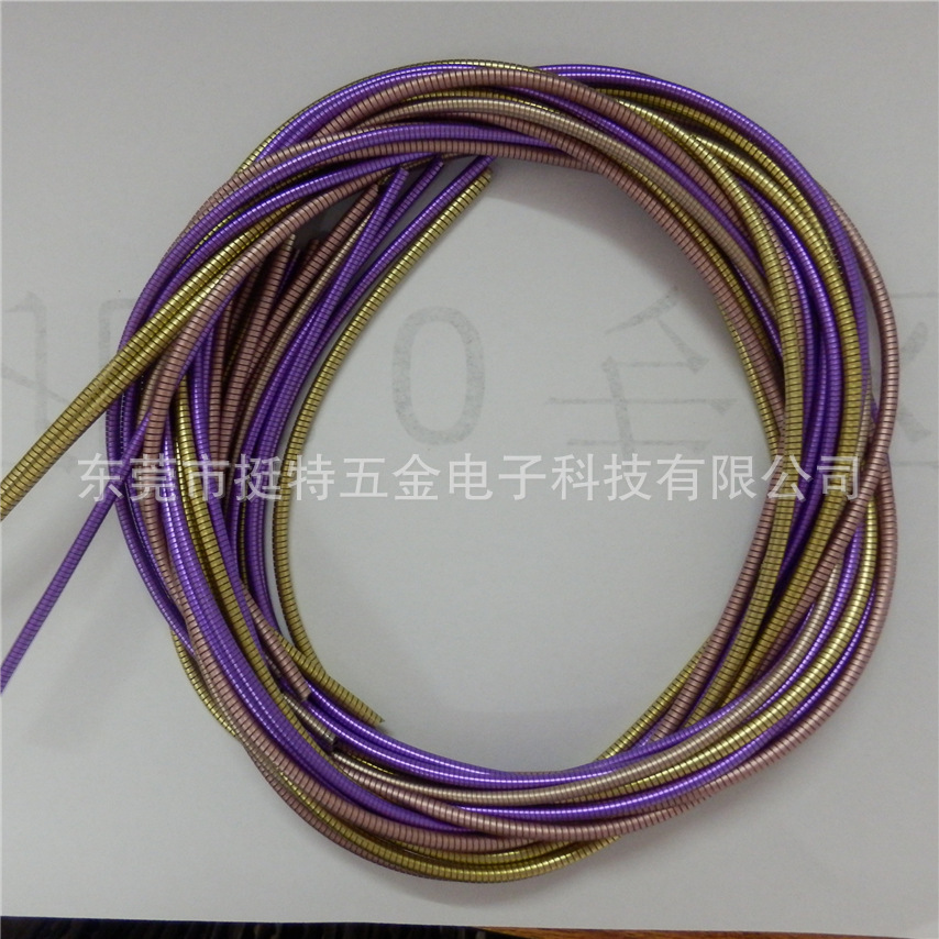 Spring tube data line of Android mobile phone charging line in the golden metal hose line