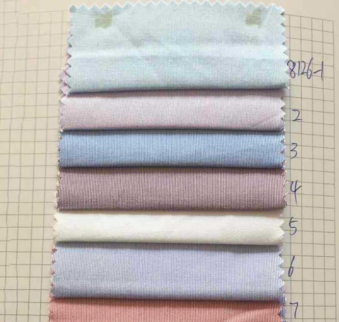 Vải pha sợi   Wholesale dyed striped shirting clothes fabric cotton blended yarn-dyed gingham fabri