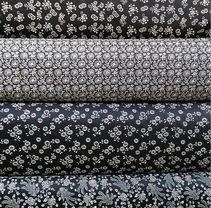 V ải Twill Active printing and dyeing cotton thick blue cloth imitation batik cloth material wholesa