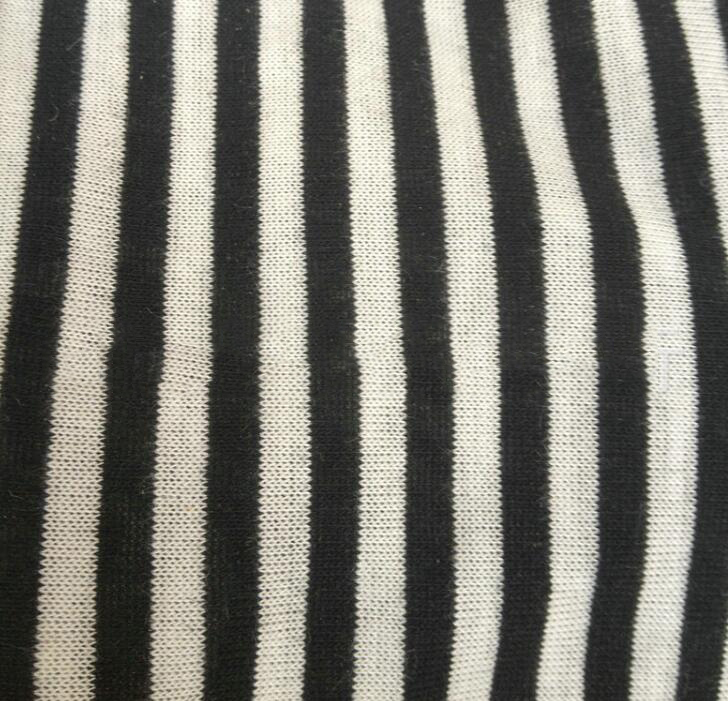 Vải Jersey   Factory outlets 40s cotton jersey fabric inventory knitted yarn-dyed yarn-dyed color o