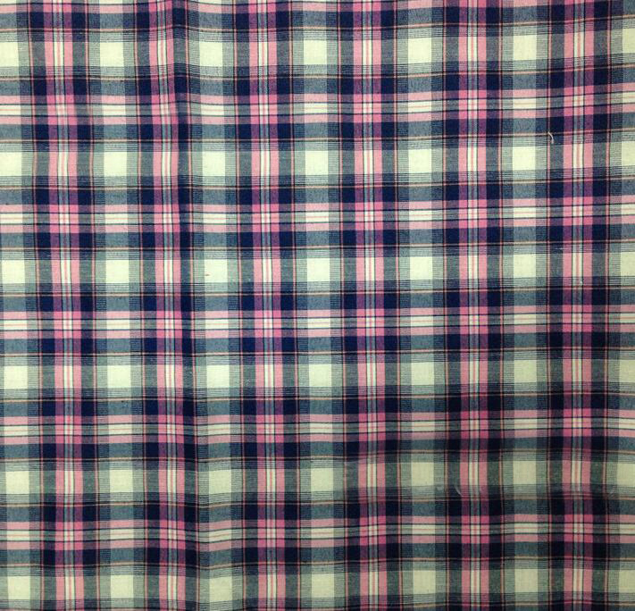 Vải cotton pha polyester  150D * 45S blended fabrics 35% cotton yarn-dyed plaid pleated fabric manu