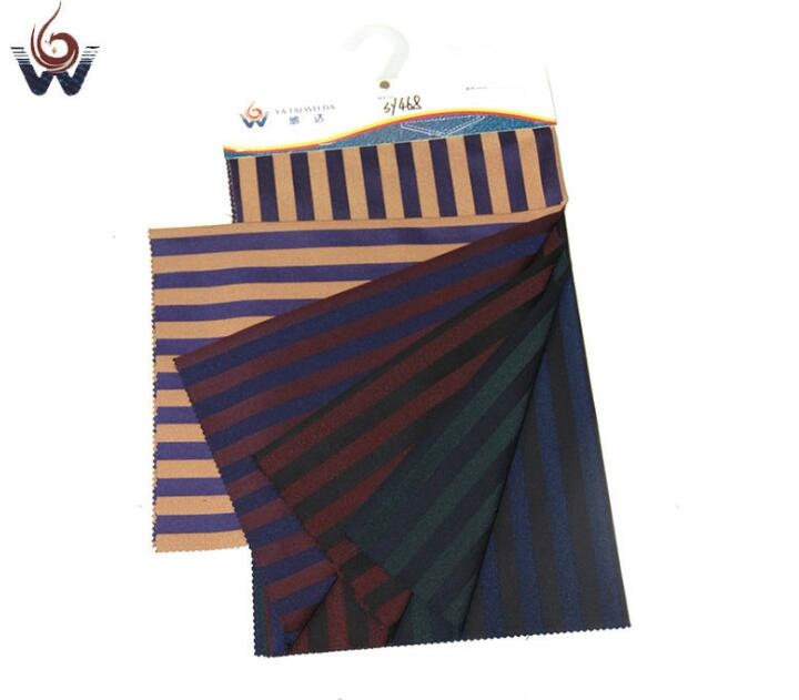 Vải pha sợi   Processing and custom color stripe suit fabric cloth clothing vocational suit fabrics