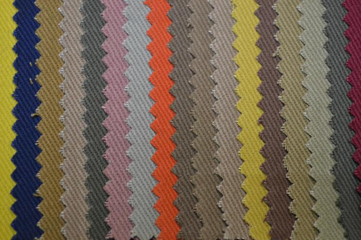 V ải Twill Cotton denim fabric 7 * 7 thick cotton khaki colored cotton cloth shelf 68 * 38 denim