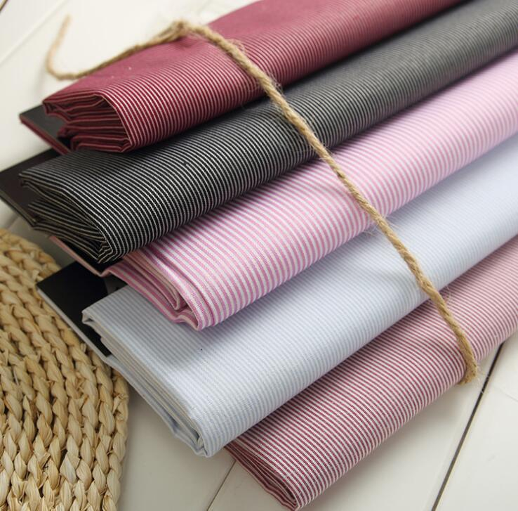 Vải cotton pha polyester  40S cotton striped cloth wholesale clothing Buli Bu fabrics blended fabri