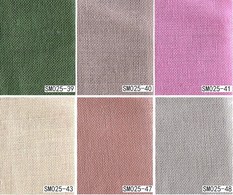 Vải Hemp ( Ramie) Spot wholesale 21*19 ramie cotton and linen fabrics more than 100 kinds of colors