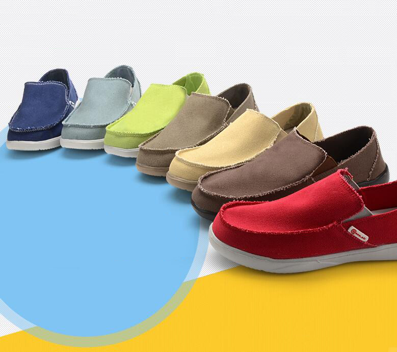 V ải bố Men's shoes in the spring tide man han edition breathable canvas shoes casual shoes with a