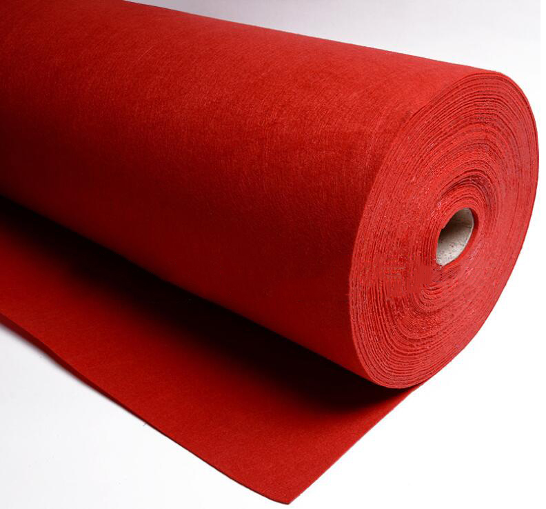 thảm lông Supply all kinds of color spot thickness of 1-5mm nonwoven cloth felt halberd for toy bags