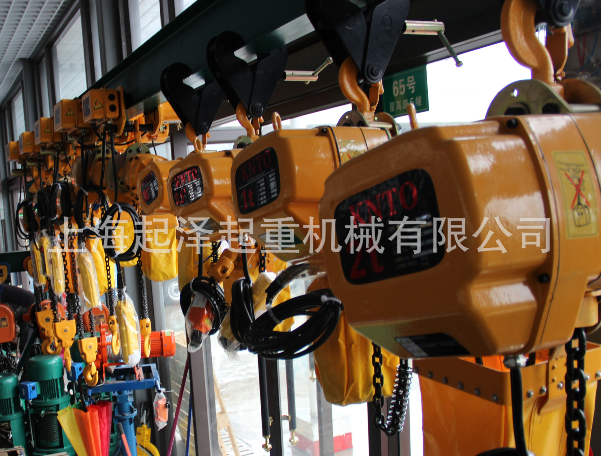 Electric monorail hoist promotional single ring chain electric hoist single speed 1t*