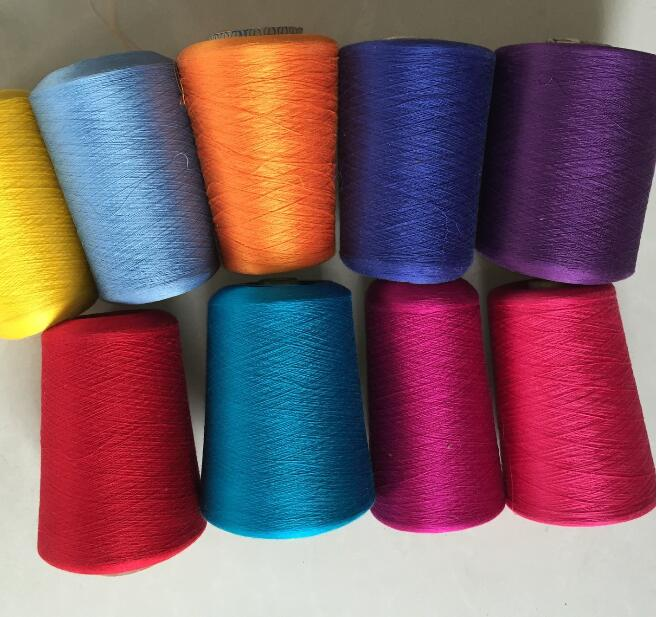 Sợi tơ lụa   Supply knitting yarn color