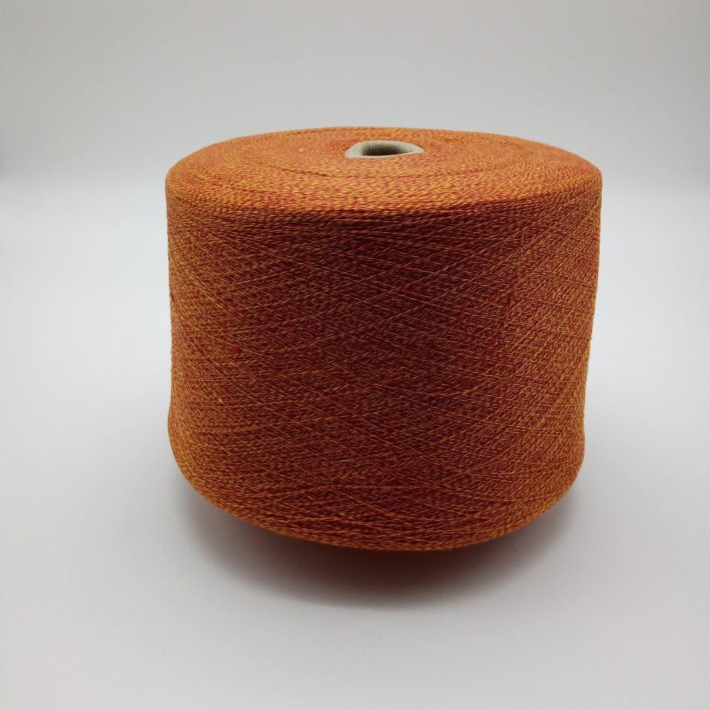 Sợi Fancy Spot supply of new yarn 32S / 2 Symphony imitation cotton 100% polyester fancy yarn togeth