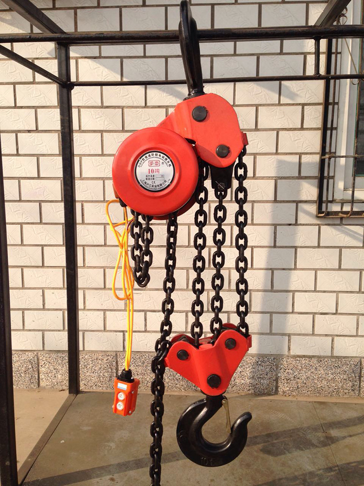 Direct sales of 20 tons of special type electric hoist chain climbing frame group rings chain electr