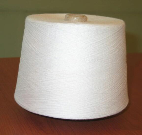 Sợi dệt   Priced supply of sticky cotton blended triple (TCR) 32s knitting machine yarn