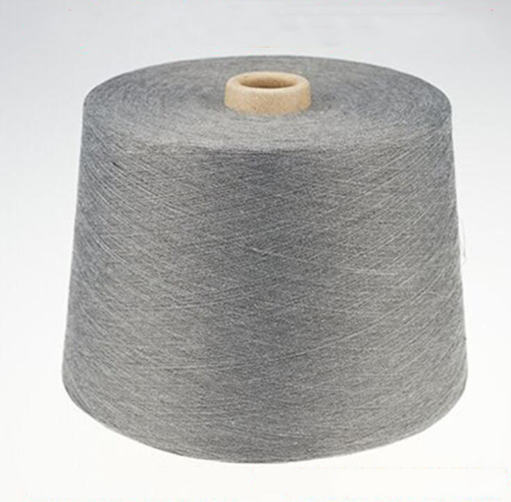 Sợi gai   Shelf 32S pure polyester yarn polyester yarn hemp melange gray color spinning 32