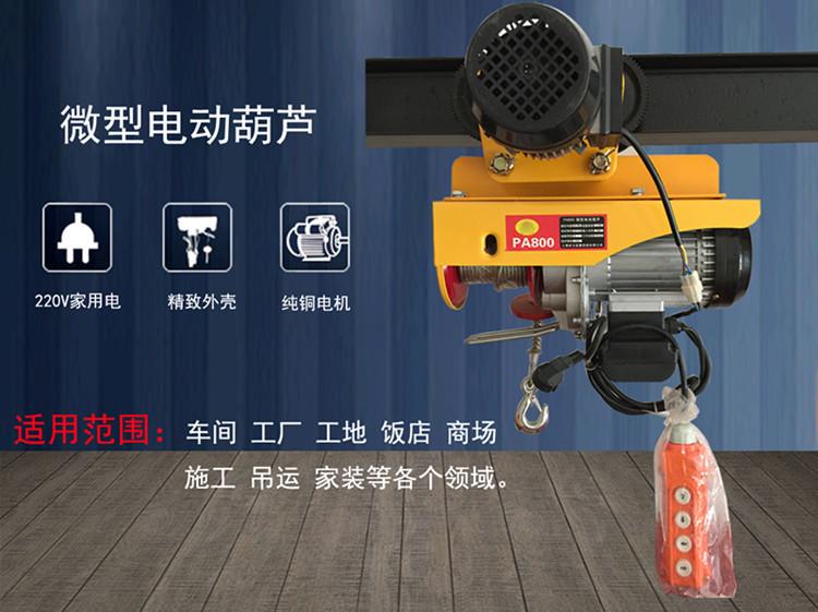 run mini electric hoist -220V home small crane / warranty for one year