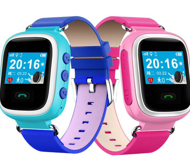 Đồng hồ thông minh   Children watch phone color gifted students positioning anti lost gifts a water