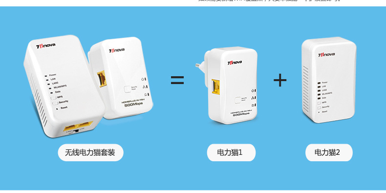 Cat power suit 500M wireless network expansion wall amplifies the WiFi signal power line of PLC