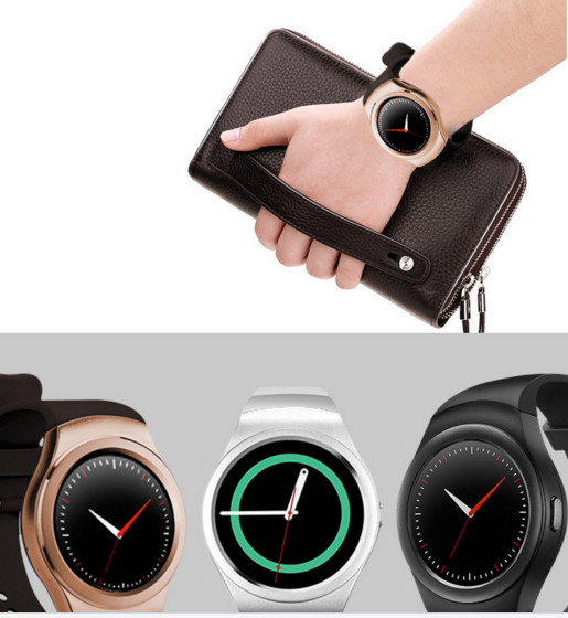 Đồng hồ thông minh   The new smart watch K8 full circle screen heart rate monitor plug in the phone