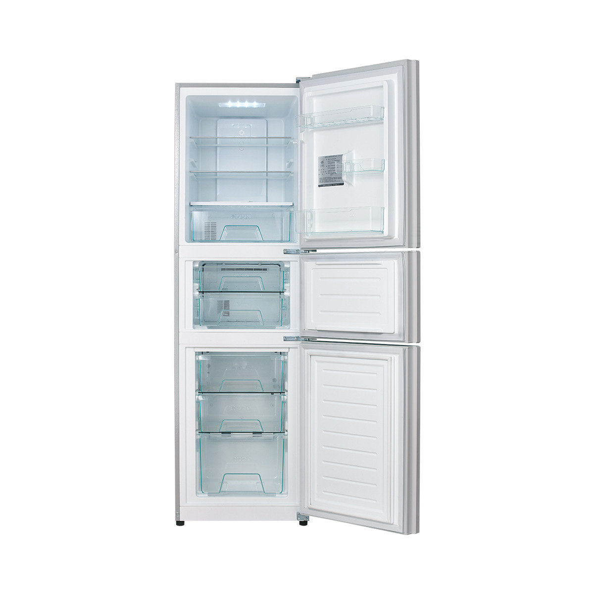 Tủ lạnh  Midea/ beautiful BCD-246WTM (E) three door refrigerator door open refrigerator air-cooled