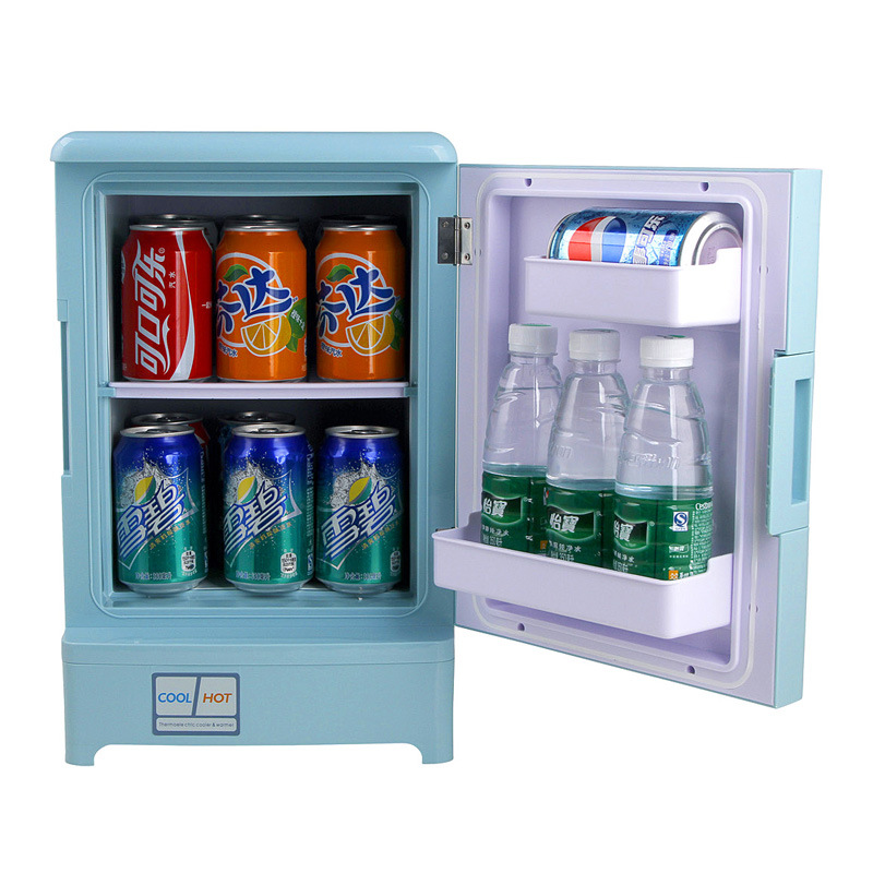 Shenzhen frico car refrigerator 15L Mini Fridge refrigerator refrigeration and heating for students