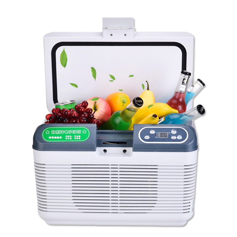 Tủ lạnh  Car 12L portable summer travel self driving car hot and cold dual purpose car refrigerator