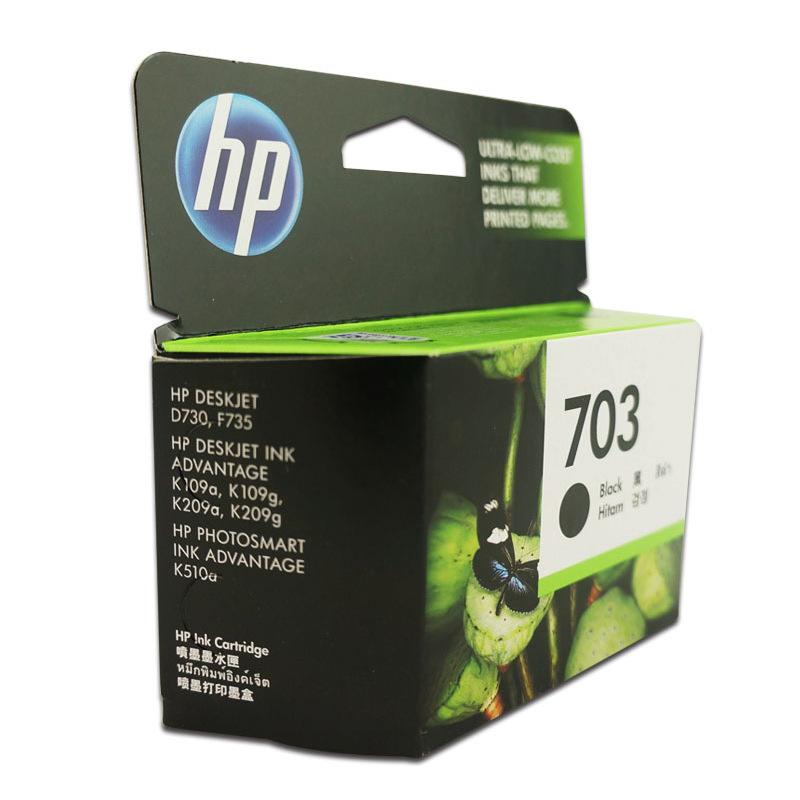 Hộp mực nước  Original HP ink cartridge HP703 black color 109G 209G 510 F735 printer ink box 209A
