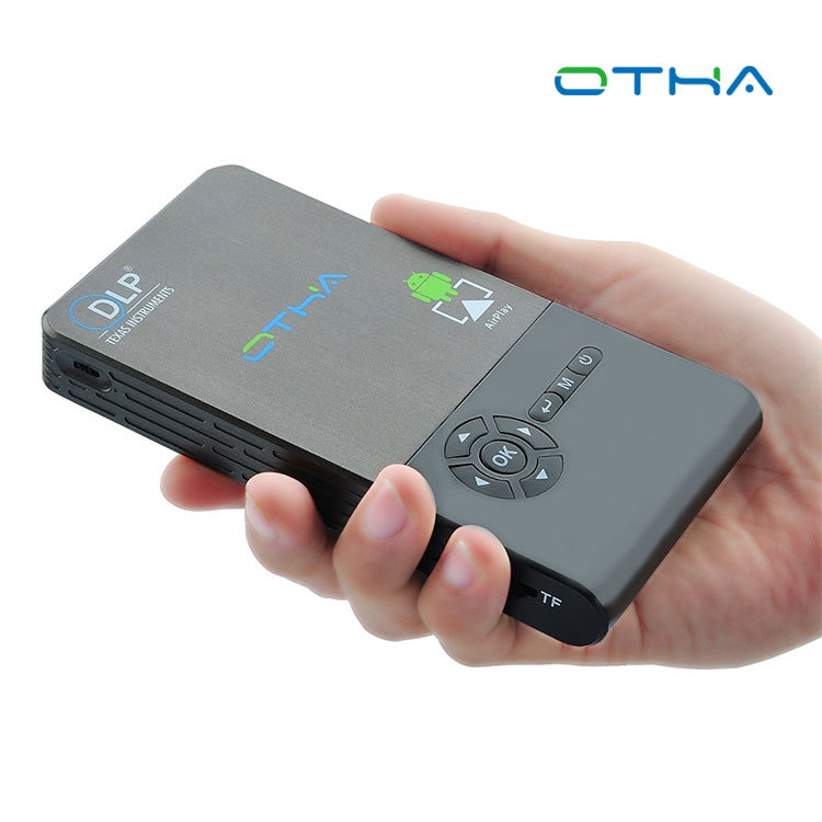 Quad core Android smart phone HD home projector mini portable theater network set-top box