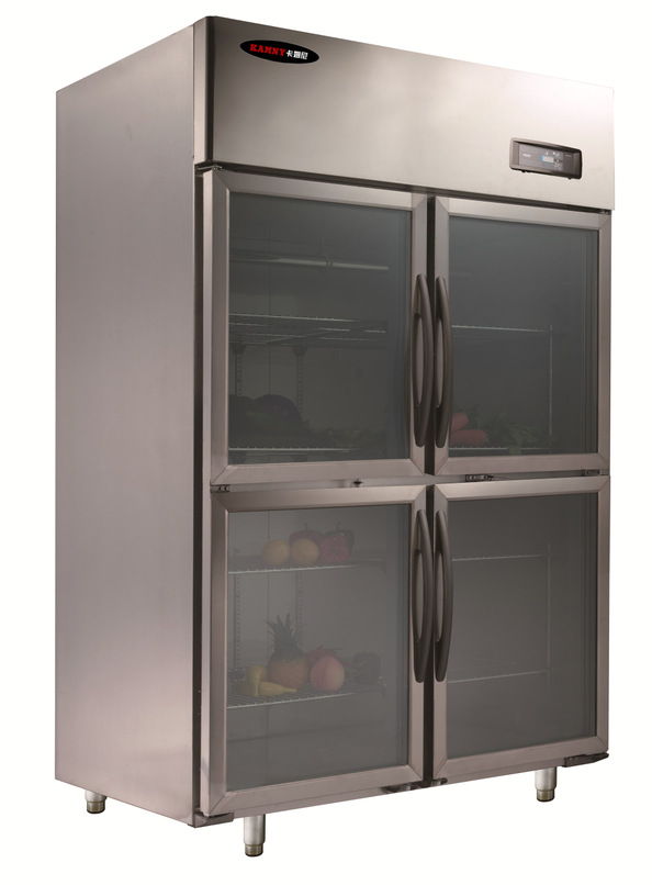 Tủ lạnh  All steel copper refrigerator kitchen hotel hotel commercial refrigeration two gate four g