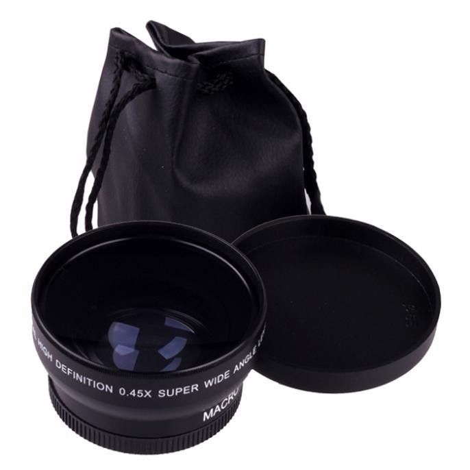 58MM 0.45X 0.45 times wide-angle lens macro lens SLR Lens 58mm universal interface58MM 0.45X 0.45 ti