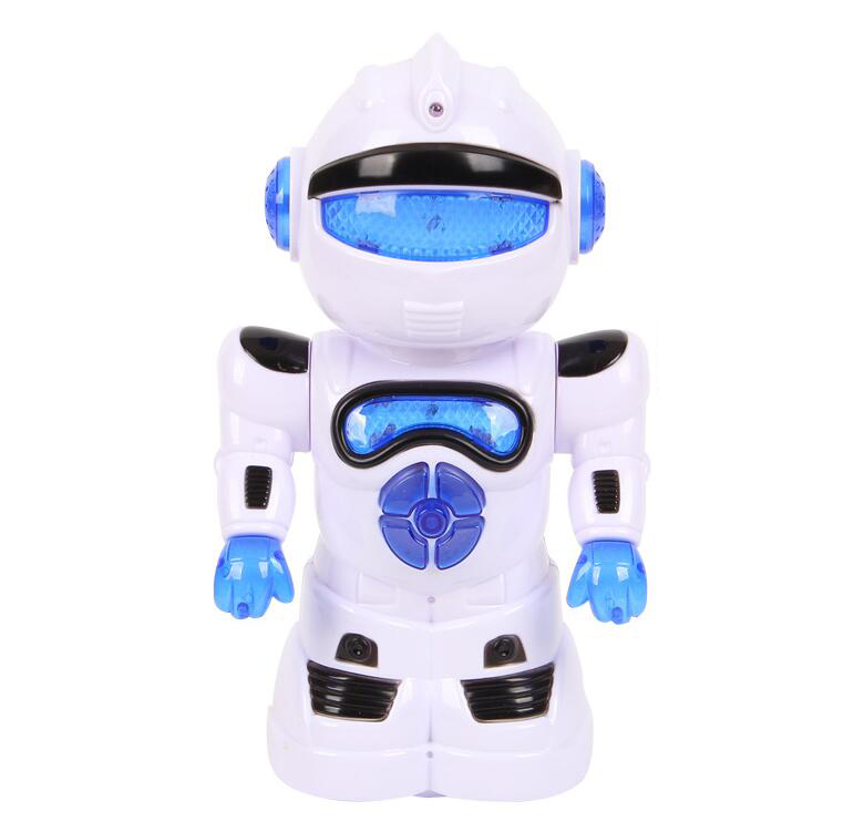The new intelligent robot learning machine electric universal puzzle toy wholesale 42 light robot de