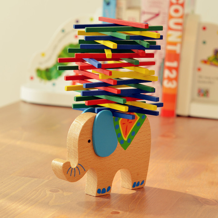 Export German color stick game wooden elephant camel balance parents parents children's game puzzle