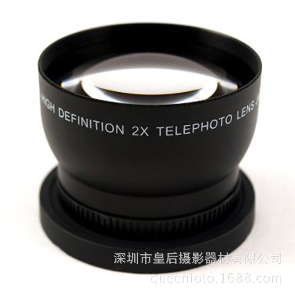 58MM 2.0X double lens attached teleconverters for Canon Nikon SONY Pentax SLR