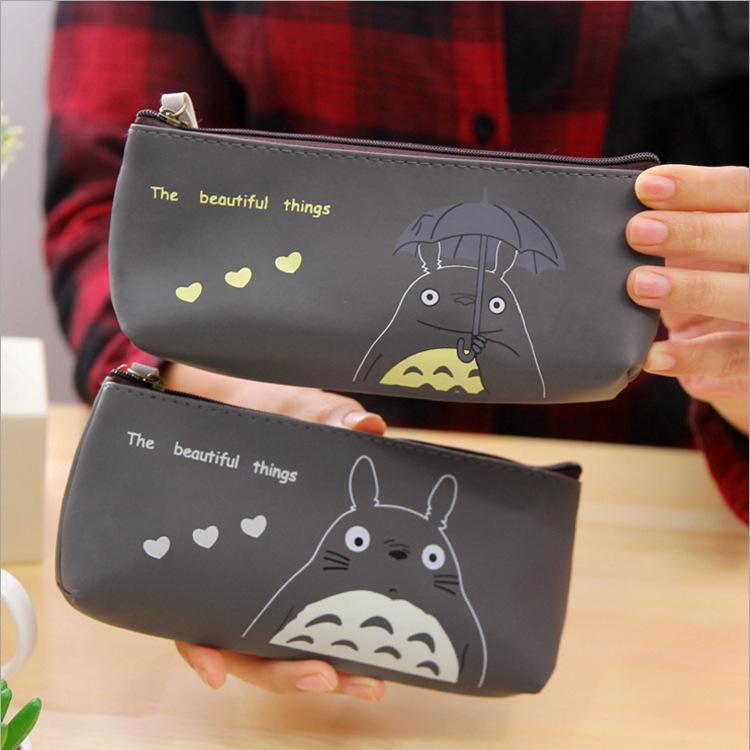 Langjie manufacturers selling Hayao Miyazaki Totoro PU bag cartoon stationery stationery creative